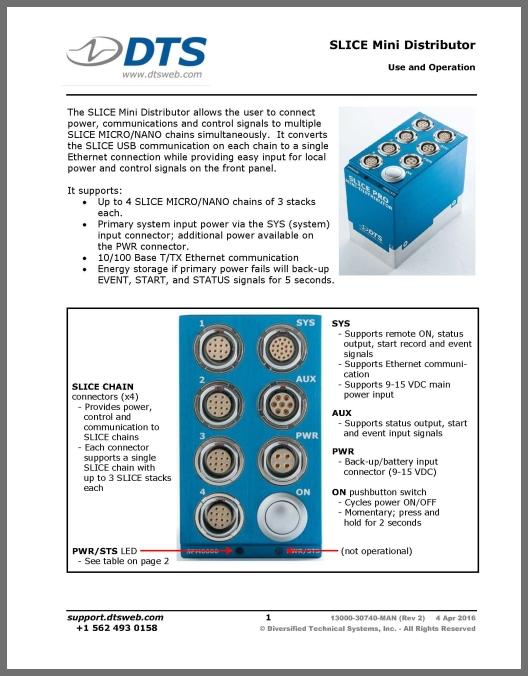 user s manual slice mini distributor dts help center rh support dtsweb com Micro Molex Connector 4 Pin Micro Connector